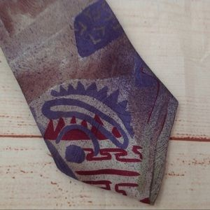 Vintage 90s Envoy Abstract Print Neck Tie